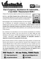 Tract sur l'état d'urgence - Tribune d'Yves Peschet